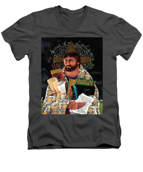 Christ The Teacher - Mmctt Men's V-Neck T-Shirt