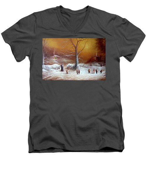 A Shire Christmas  Men's V-Neck T-Shirt