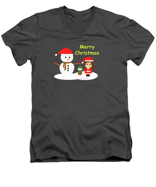 Christmas #5 And Text Men's V-Neck T-Shirt