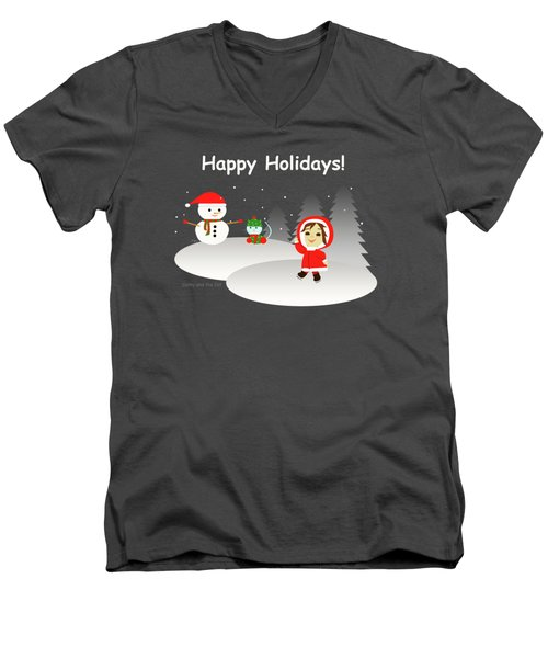 Christmas #6 And Text Men's V-Neck T-Shirt