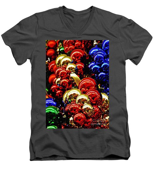 Christmas Abstract 14 Men's V-Neck T-Shirt by Sarah Loft
