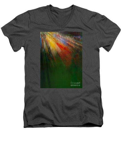 Christmas Abstract Men's V-Neck T-Shirt