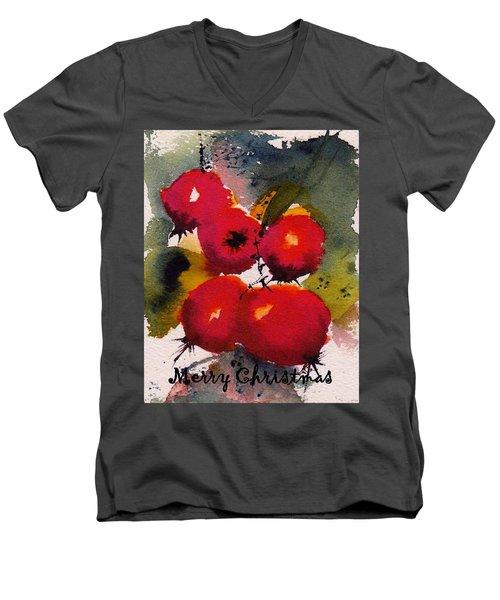 Christmas Berries Men's V-Neck T-Shirt