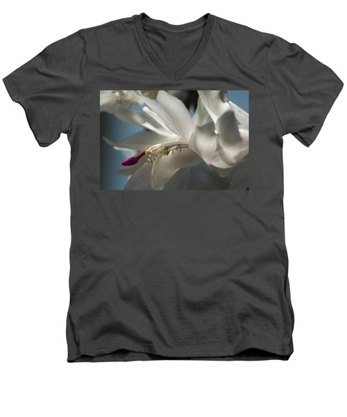 Christmas Cactus Blossom Men's V-Neck T-Shirt