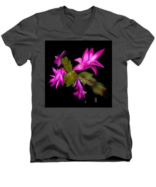 Christmas Cactus Men's V-Neck T-Shirt