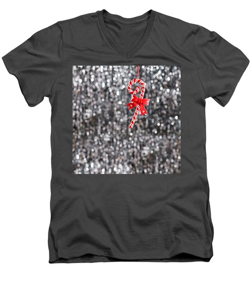 Men's V-Neck T-Shirt featuring the photograph Christmas Candy  by Ulrich Schade