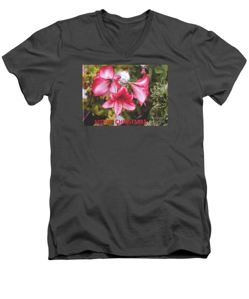 Christmas Card - Amorillis Men's V-Neck T-Shirt