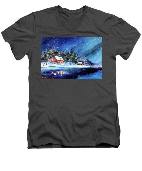Christmas Eve Men's V-Neck T-Shirt