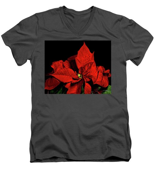 Christmas Fire Men's V-Neck T-Shirt