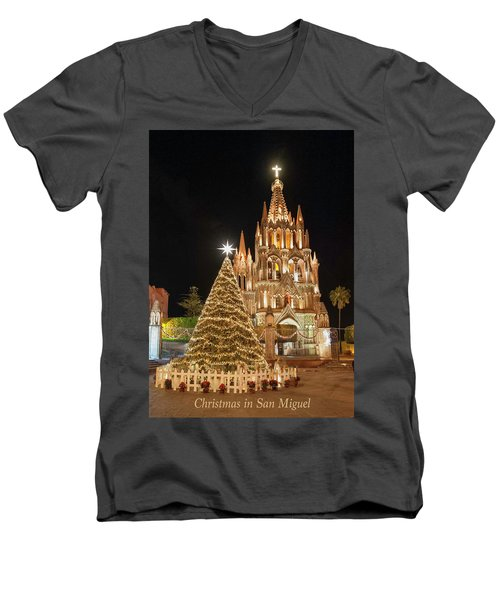 Christmas In San Miguel Men's V-Neck T-Shirt