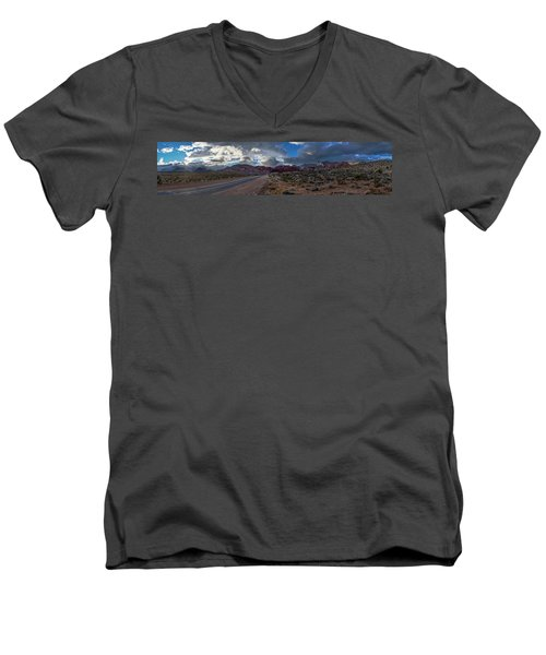 Christmas In The Desert Men's V-Neck T-Shirt
