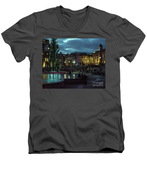 Christmas In Trafalgar Square, London 2 Men's V-Neck T-Shirt