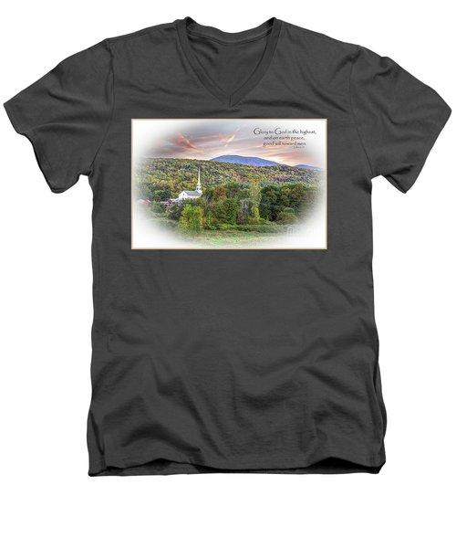 Christmas In Vermont Men's V-Neck T-Shirt