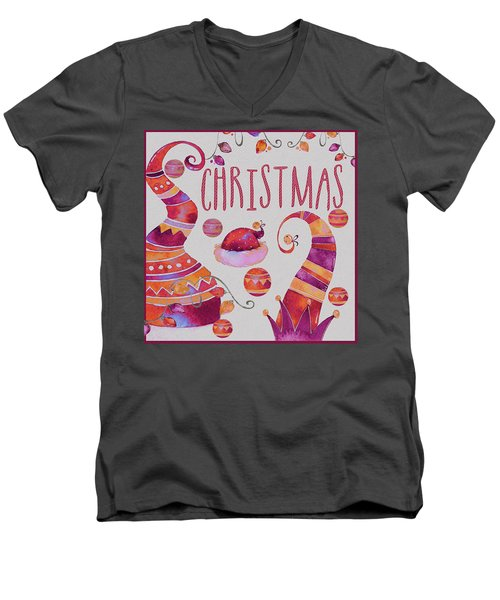 Men's V-Neck T-Shirt featuring the photograph Christmas by Jeff Burgess