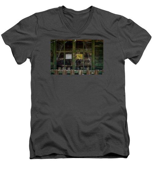Christmas Lights And Reflections Men's V-Neck T-Shirt