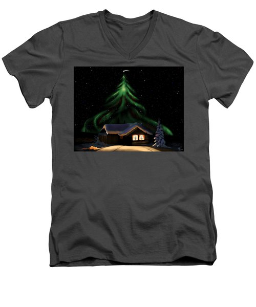 Christmas Lights Men's V-Neck T-Shirt