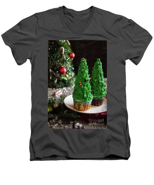 Men's V-Neck T-Shirt featuring the photograph Christmas Memories by Deborah Klubertanz