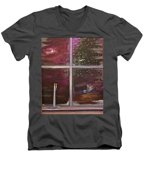Christmas Moon Men's V-Neck T-Shirt