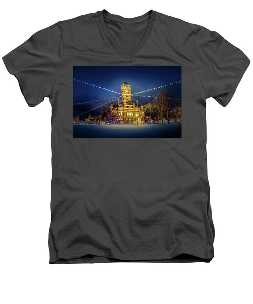 Christmas On The Square 2 Men's V-Neck T-Shirt