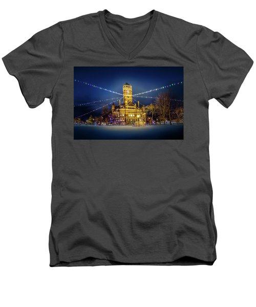 Christmas On The Square 2 Men's V-Neck T-Shirt