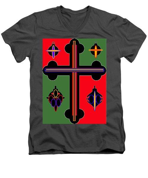 Christmas Ornate 1 Men's V-Neck T-Shirt