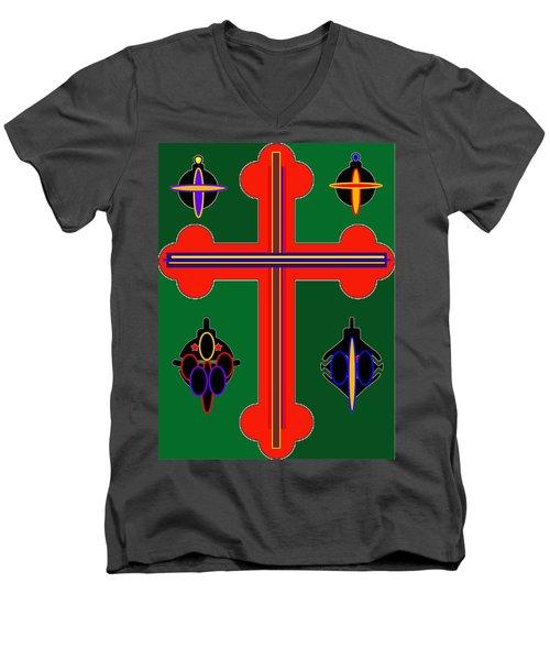 Christmas Ornate 3 Men's V-Neck T-Shirt