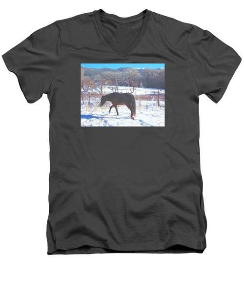 Christmas Roan El Valle I Men's V-Neck T-Shirt by Anastasia Savage Ealy