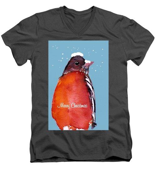 Christmas Robin Men's V-Neck T-Shirt