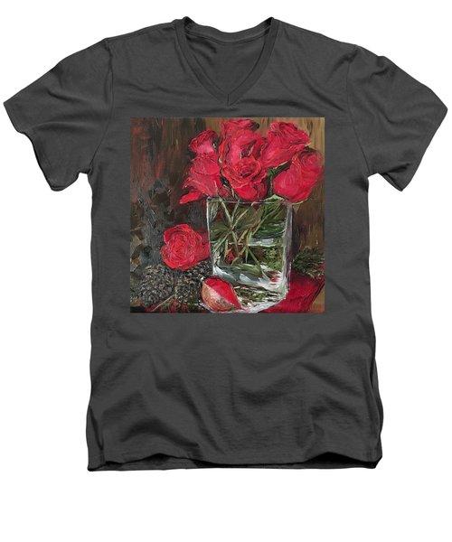 Christmas Roses Men's V-Neck T-Shirt