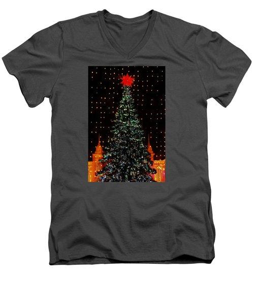 Christmas Tree  Men's V-Neck T-Shirt by John Wartman