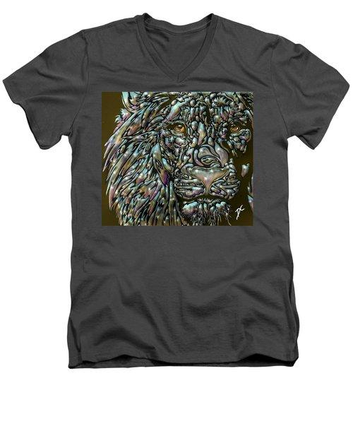 Chrome Lion Men's V-Neck T-Shirt