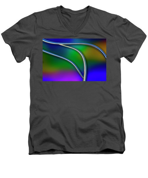 Men's V-Neck T-Shirt featuring the photograph Chrome by Paul Wear