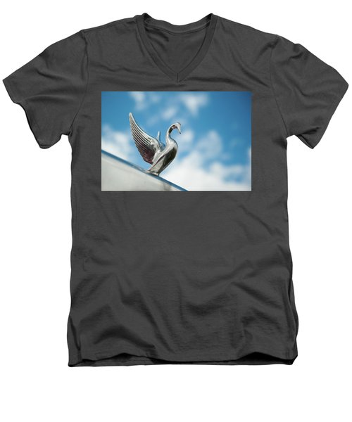 Chrome Swan Men's V-Neck T-Shirt