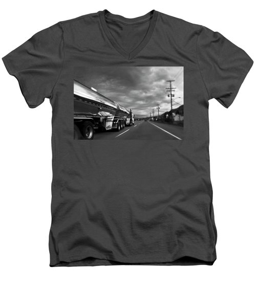 Chrome Tanker Men's V-Neck T-Shirt