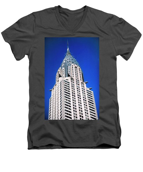 Chrysler Building Men's V-Neck T-Shirt
