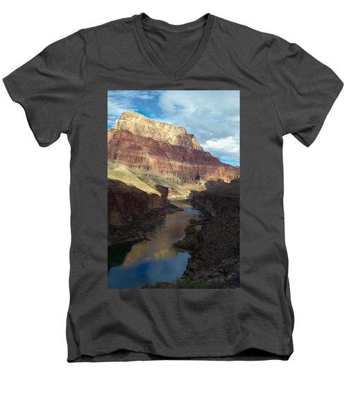 Chuar Butte Colorado River Grand Canyon Men's V-Neck T-Shirt