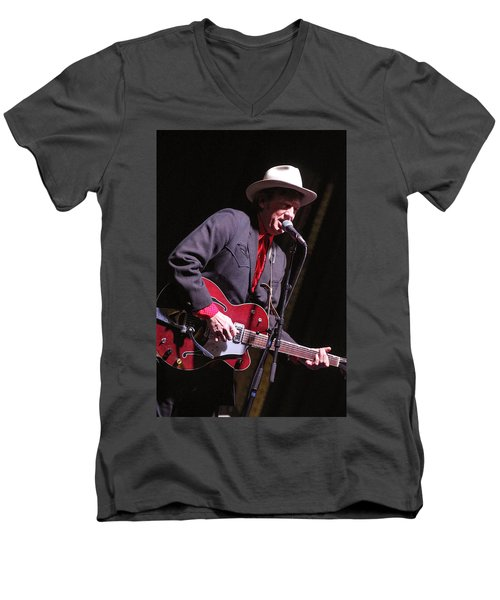 Men's V-Neck T-Shirt featuring the photograph Chuck Mead by Jim Mathis