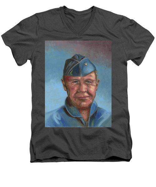 Chuck Yeager Men's V-Neck T-Shirt