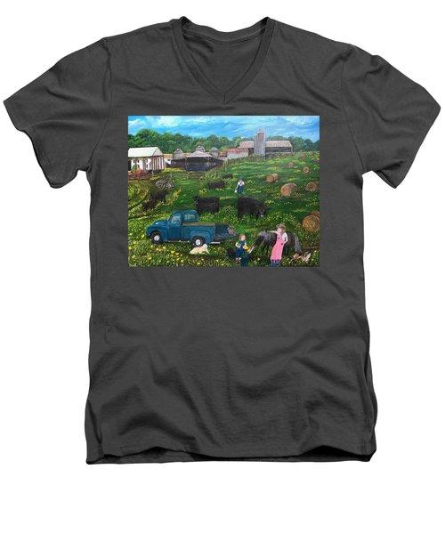 Chumhurst Farm Men's V-Neck T-Shirt