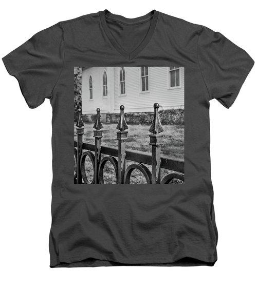 Church Fence Men's V-Neck T-Shirt