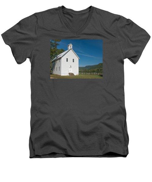 Church House In The Ozarks Men's V-Neck T-Shirt