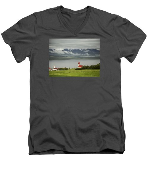 Church In Akureyri Men's V-Neck T-Shirt