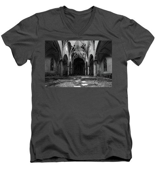 Church In Black And White Men's V-Neck T-Shirt