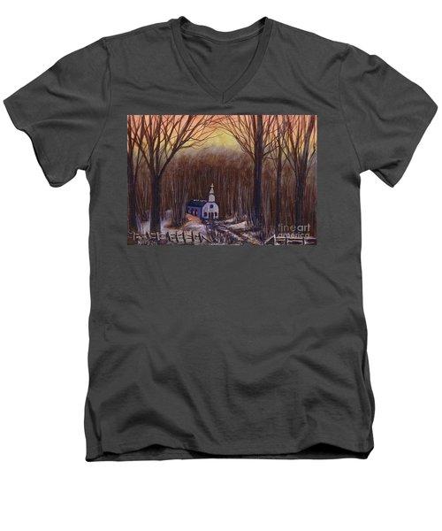 Church In The Woods  Men's V-Neck T-Shirt