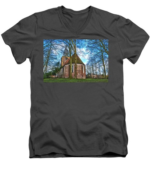 Church In Winsum Men's V-Neck T-Shirt
