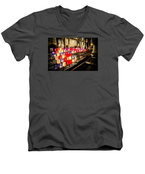 Men's V-Neck T-Shirt featuring the photograph Church by Jason Smith