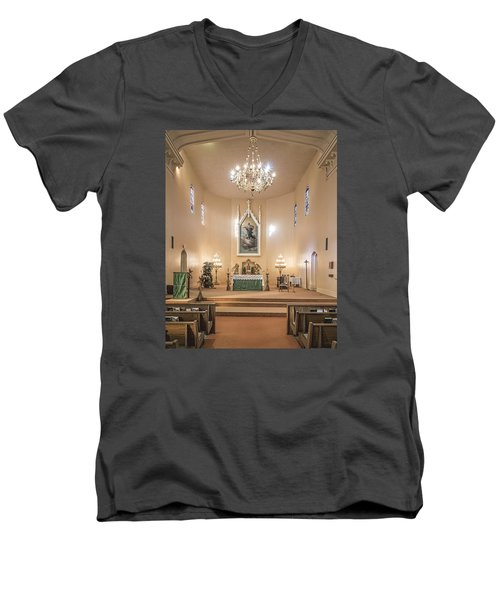 Men's V-Neck T-Shirt featuring the photograph Church Of The Assumption Of The Blessed Virgin Altar by Andy Crawford