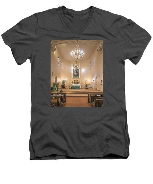 Church Of The Assumption Of The Blessed Virgin Altar Men's V-Neck T-Shirt