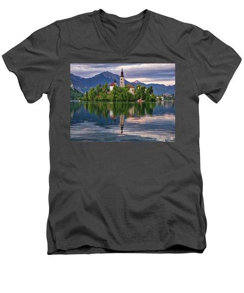Church Of The Assumption. Men's V-Neck T-Shirt