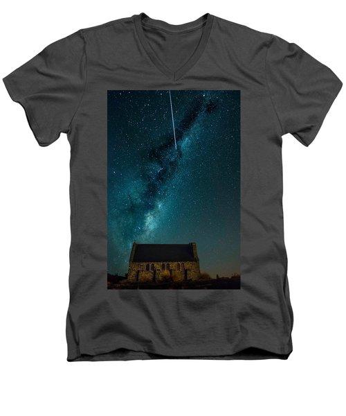 Church Of The Good Shepherd Men's V-Neck T-Shirt by Martin Capek
